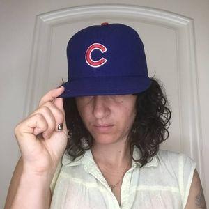 "MLB Cubs Baseball Cap Size 7 1/8"""